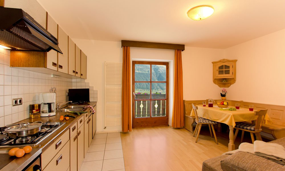 Comfortable living during a farm holiday in Val Venosta